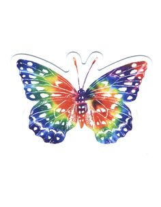 Colorful Butterfly Drawing, Rainbow Butterfly, Truck Or Treat, Tie Dye, Stickers, Wallpaper, Drawings, Pretty, Ios