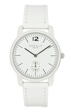Mike Ellis New York Damen-Armbanduhr Preppy Analog Quarz Leder SL4527