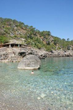 One of the best beaches on Mallorca Portals Vells Beach, full of rocks...