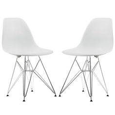 Poly and Bark Padget Dining Chair Eiffel Wire Leg (Set of 2) - $109.98