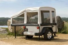 Jeep and Mopar are now starting to offer two types of off-road camper trailers for those interested in taking a road trip this summer, packed with adventure and Trailer Tent, Off Road Camper Trailer, Camper Trailers, Travel Trailers, Jeep Wrangler Camper, Mopar Jeep, Wrangler Sport, Jeep Rubicon, Jeep 4x4
