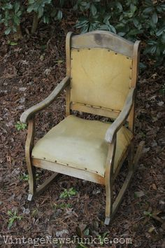 The Rescued Rocking Chair: How to Reupholster a Chair Tutorial | Vintage News Junkie