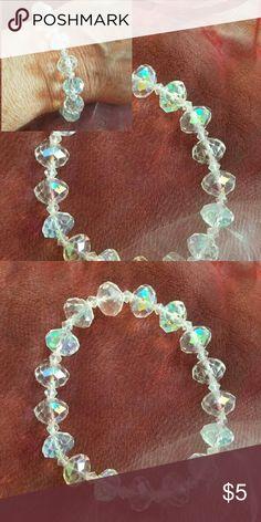 Stretchy glass Crystal Beads bracelet Brand new and handmade by me Jewelry Bracelets