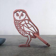 """Buchstaben & Schriftzüge - """"Eule zum aufstellen"""" Holz Motiv Deko - ein Designerstück von NOGALLERY bei DaWanda"""
