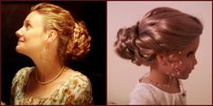 Hairstyle for American Girl doll, inspired by Emma Woodhouse/Romola Garai in the BBC version of Jane Austen's Emma...