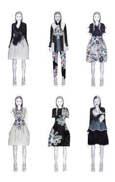 Fashion Sketchbook - fashion drawings, fashion illustrations, fashion portfolio // Sam Towner