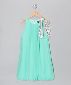 Mint Sequin Bow Bubble Dress - Toddler | Daily deals for moms, babies and kids