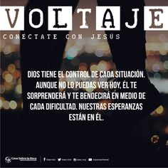 Dios tiene el control de cada situación. #ConéctateConJesús http://devocional.casaroca.org/jv/06jun