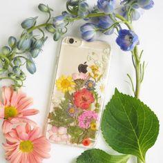 The Secret Garden pressed flower bumper phone case via SummerSummerHandcraft