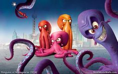 Villainous and disgruntled octopus Dave who has the human disguise of Dr. Octavius Brine!