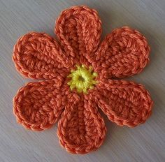 pretty crochet flower