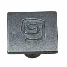 GlideRite 1-inch Antique Silver Square Spiral Cabinet Knobs (Case of 25)