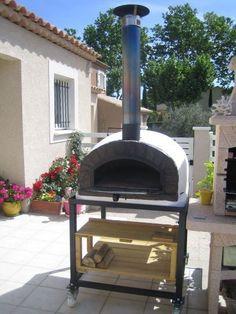 Ingenious Brick Wood Fired Pizza Oven 90cm White Itlian Orange-brick/black-door Outdoor Cooking & Eating package Home & Garden