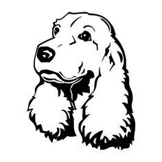 13*16.4 CM Cão Cocker Spaniel Animal Engraçado Decoração Do Corpo Do Carro Adesivos Decalques Preto/Sliver C6-1877