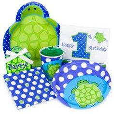Turtle 1st Birthday Party Supplies