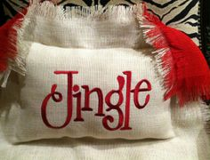 Jingle Custom Burlap Pillow