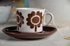 "Old Arabia Finland coffee cup. Designer Göran Bäck, ""isokukka""..."