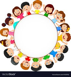 Crowd of children with blank space Royalty Free Vector Imag Borders For Paper, Borders And Frames, Powerpoint Background Design, Kids Background, School Frame, Stock Foto, Kids Wallpaper, Child Day, Kids Prints