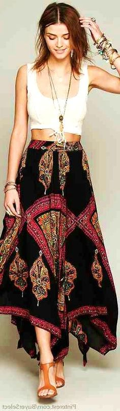 34 Trending Bohemian Chic Skirts Outfits #boho #skirt #fashion #outfit #summer #gypsy