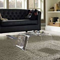 Modway Bolt Coffee Table in Clear