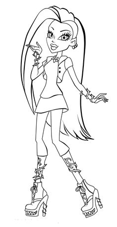 Monster High Style Coloring Pages