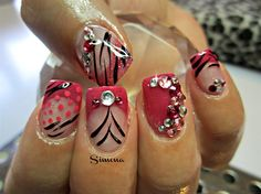 acrylic by simonaleucht - Nail Art Gallery nailartgallery.nailsmag.com by Nails Magazine www.nailsmag.com #nailart