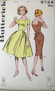 f31989a6a17 1950s Dress Sewing Pattern