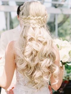 40 Pretty Wedding Hairstyles for Brides with Long Hair Diy Wedding Hair, Wedding Braids, Romantic Wedding Hair, Long Hair Wedding Styles, Braided Hairstyles For Wedding, Wedding Hair Down, Wedding Hairstyles For Long Hair, Formal Hairstyles, Bride Hairstyles