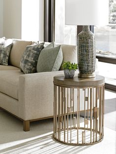 Lexington Home Brands, Shadow Play, End Tables & Accent Tables, Studio Round Accent Table, Accent Tables Decor, Living Room Table, Table, Upholstered Seating, Furniture, Round Accent Table, Metal Side Table, Lexington Home, Metal End Tables