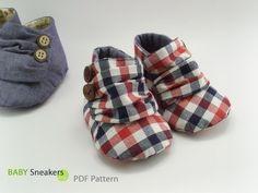 Jaden Baby Sneakers PDF Pattern. | SewingWithMe