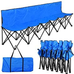 World Pride Portable Lightweight 6 Seater Sport Sideline Bench Chair-Solid,Sturdy,Longer Than Similar Camping Furniture, Camping Chairs, First Time Camping, Shower Shoes, Iron Pipe, Oxford Fabric, Printable Coupons, Online Shopping Stores