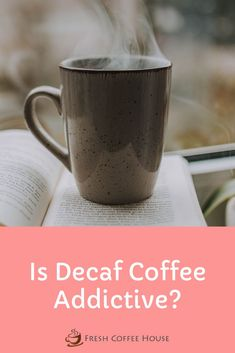 Decaf coffee can be a fantastic alternative for anyone trying to cut back on their caffeine intake. I decided to make the switch once I realized how hooked I was on my daily coffee. Although, I always wondered if decaf coffee was addictive as well. The last thing I want is to switch one habit for another. After doing some research, I put together this article with all the answers. #coffee Coffee Cream, Coffee Type, Black Coffee, Coffee Canister, Coffee Spoon, Coffee Cans, Types Of Coffee Beans, Different Types Of Coffee, Decaf Coffee