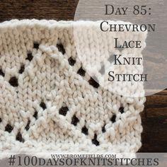 Chevron Lace Knit Stitch +PDF +VIDEO