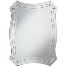"""Idell Scalloped Side 23 1/2"""" x 32"""" Wall Mirror"""