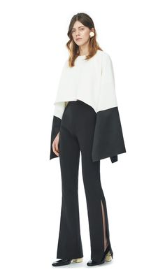 Solace London Camille Top Cream Black | Tome 11