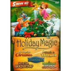 5 Movie Set Including: Magical Cartoon Christmas, An Angel for Christmas, The Story of Christmas, Miracle in Toyland, Up on the Housetop