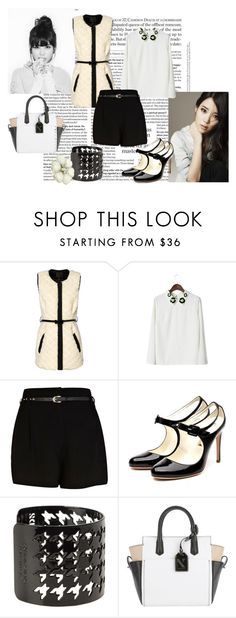 """""""IU"""" by jenica35 ❤ liked on Polyvore featuring River Island, Rupert Sanderson, Dsquared2, Reed Krakoff and Lipsy"""