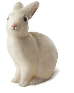 Pöytävalaisin Pupu, valkoinen, Heico