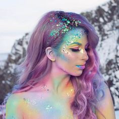 Glitter Boobs Are Here To Outshine Your Puny Glitter Buns Halloween Makeup Unicorn, Halloween Mermaid, Gypsy Halloween Costumes, Fairy Costume Makeup, Halloween Rave, Halloween Wigs, Fairy Makeup, Unicorn Makeup, Halloween Inspo