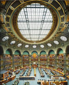 Oval Room at Richelieu, Bibliothèque nationale de France, Paris  // Architect: Henri Labrouste // Photo: Ahmet Ertug