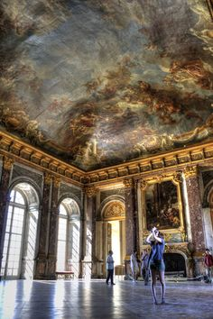 From the inside Palace (Chateau) Versailles, Paris, France Paris France, Beautiful Buildings, Beautiful Places, Versailles Paris, Grand Hall, Hotel Des Invalides, Palace Interior, Baroque Architecture, Architecture Design