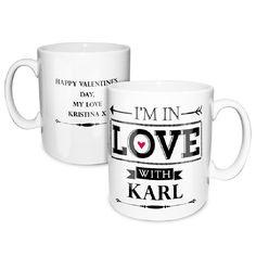 In Love With..... Personalised Valentine Mug