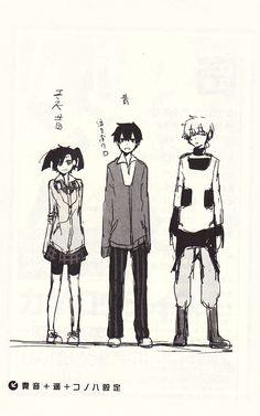 Takane, Haruka and Konoha. Awesome Anime, Anime Love, Otaku Mode, Anime Recommendations, K Project, Kagerou Project, Cartoon Shows, Actors, Light Novel