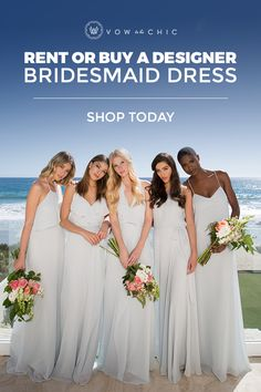 ICYMI: bridesmaids can now *rent* bridesmaid dresses (yes -- like groomsmen have been doing forever). Browse thousands of gorgeous designer dresses by Monique Lhuillier, Amsale, Jenny Yoo and more to find your dream wedding look.