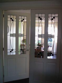 Tussendeuren glas in lood