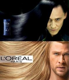 "thoreal -- Instead of ""L'oreal,"" a lot of meme-makers have been labeling this one ""Thoreal."" The addition of Loki adds to the effect. (From chicqueen.tumblr.com)"
