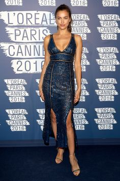Irina Shayk Photos - Irina Shayk attends the L'Oreal Paris Blue Obsession Party at the annual Cannes Film Festival at Hotel Martinez on May 2016 in Cannes, France. - L'Oreal Paris Blue Obsession Party - The Annual Cannes Film Festival Bradley Cooper, Irina Shayk Style, Irina Shayk Photos, Top Wedding Dresses, Wedding Outfits, Festival 2016, Festival Fashion, L'oréal Paris, Hollywood Fashion