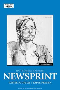 Jack Richeson 100211 Rough Newsprint 100 Sheet, 12