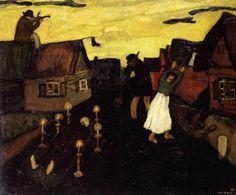 """Chagall, Pintor De Sonhos... """"A Morte"""", 1908,Óleo sobre Tela,Museu Nacional De Arte Moderna,Paris."""