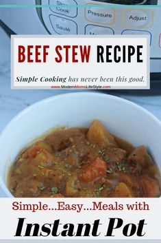 Simple and Easy Instant Pot Beef Stew Recipe! This Fall Recipe that your whole family will Love!! Truly a Award Winning Recipe that has been proven not only be Mouth-Watering...But so Simple and Easy to prepare. Enjoy this made Easy Beef Stew Recipe!